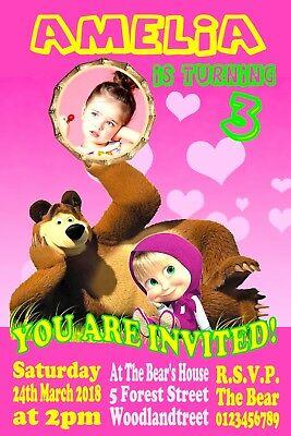 convite marsha e o urso