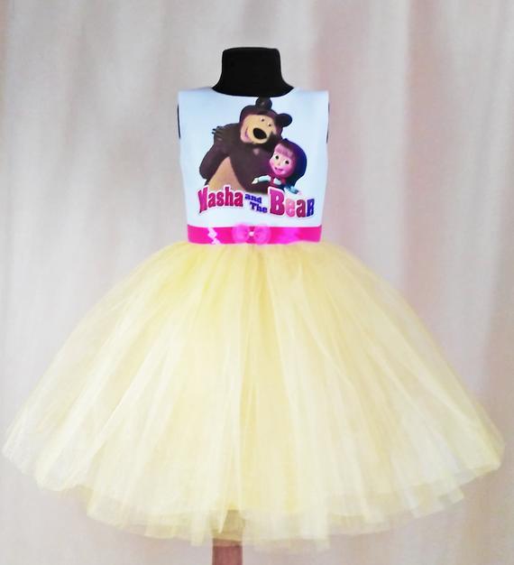 vestido de festa marsha e o urso