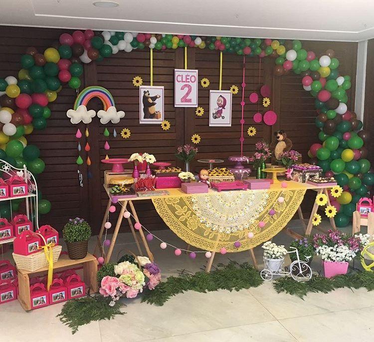 decoração festa infantil marsha e o urso