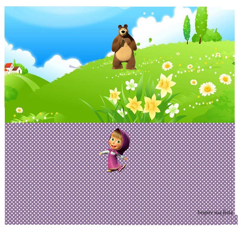 kit festa marsha e o urso para imprimir