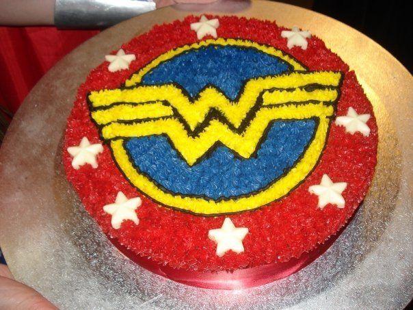 bolo decorado festa mulher maravilh