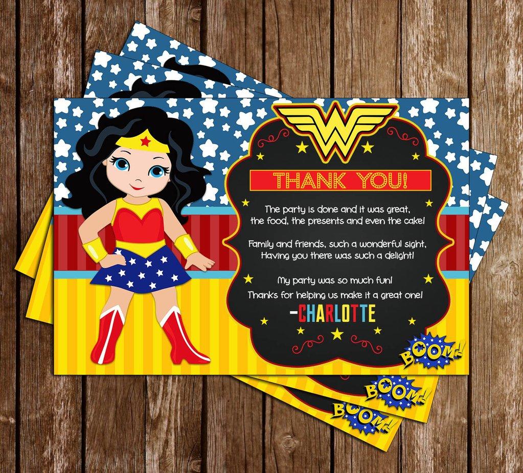 Wonder Woman Party Invitation