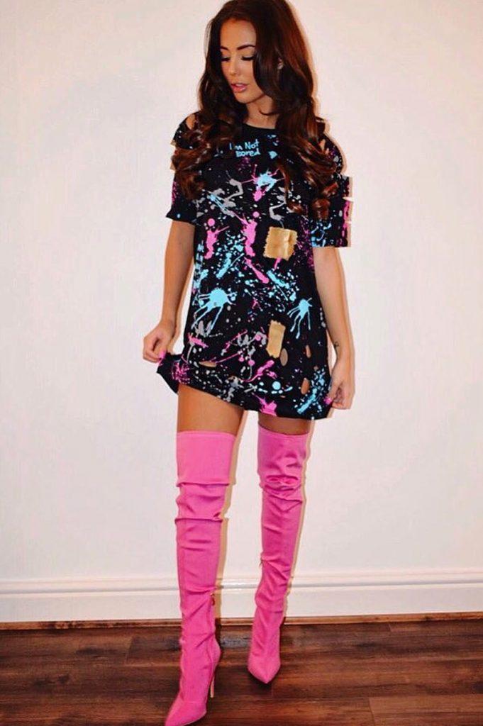 vestido para festa neon