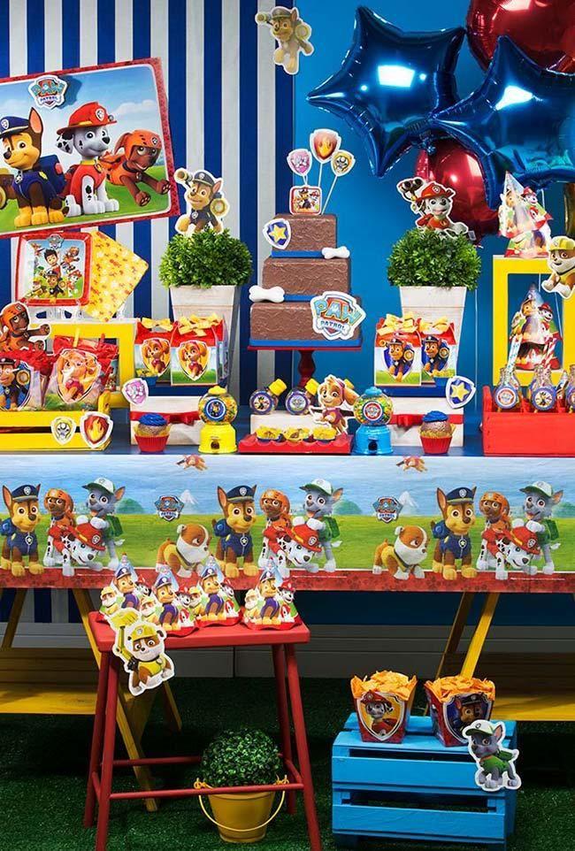 decoração festa patrulha canina