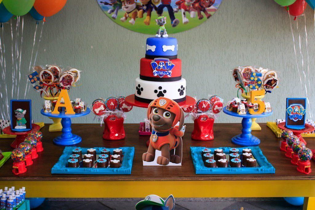 mesa festa patrulha canina