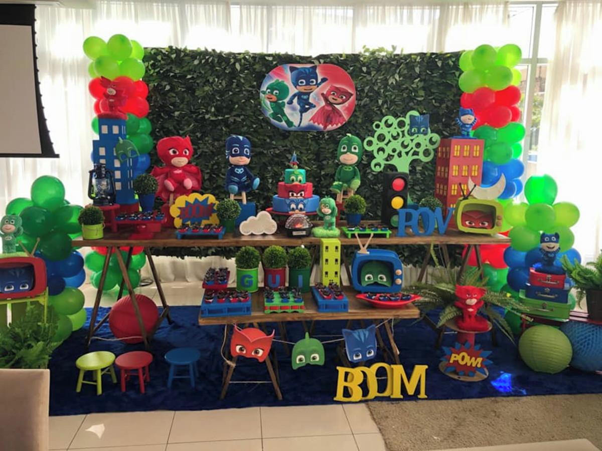 decoração de festa pj masks