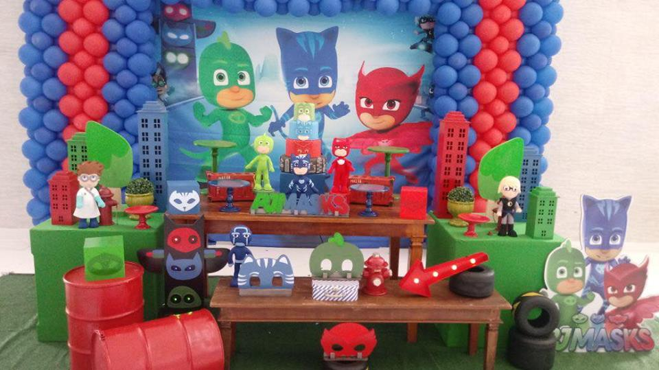mesa de festas pj masks