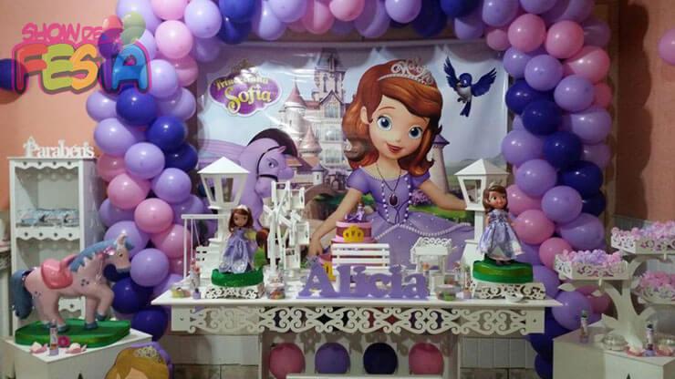 princesa sofia festa de 1 ano