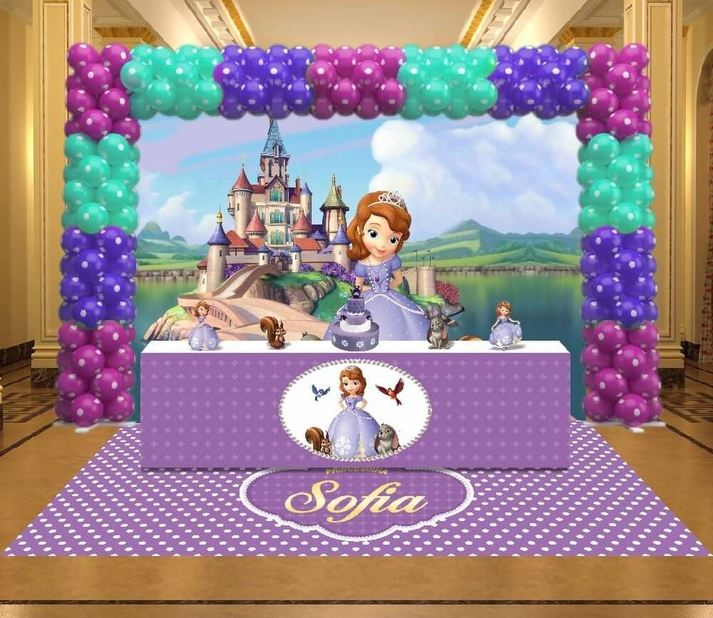 painel de festa princesa sofia