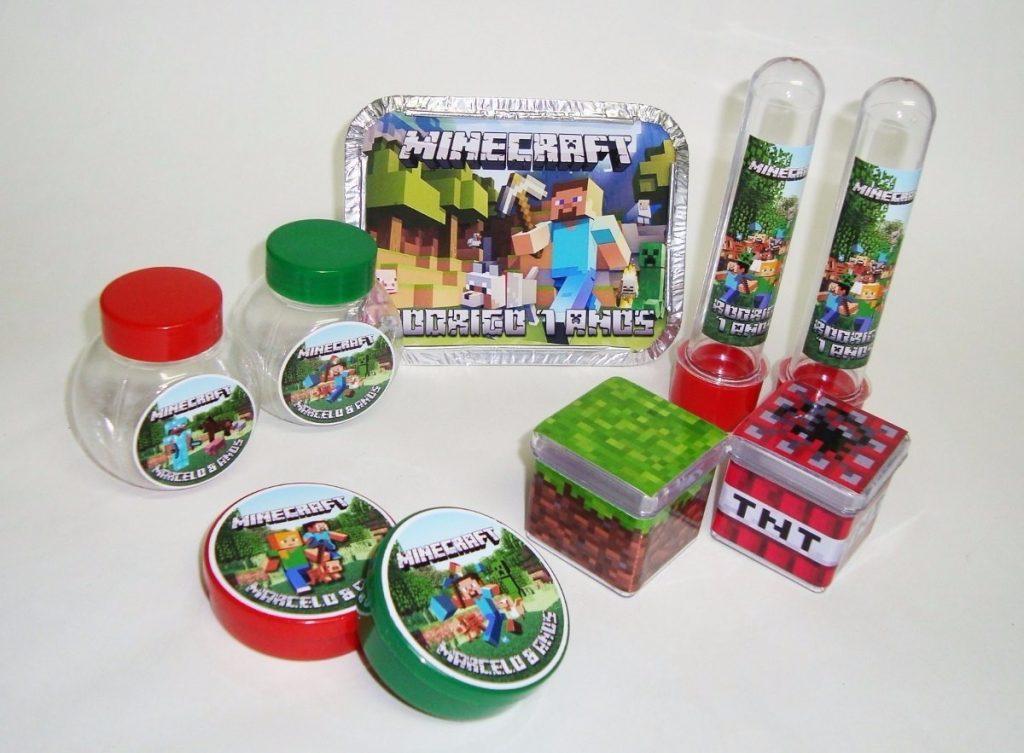 kit lembrancinha minecraft