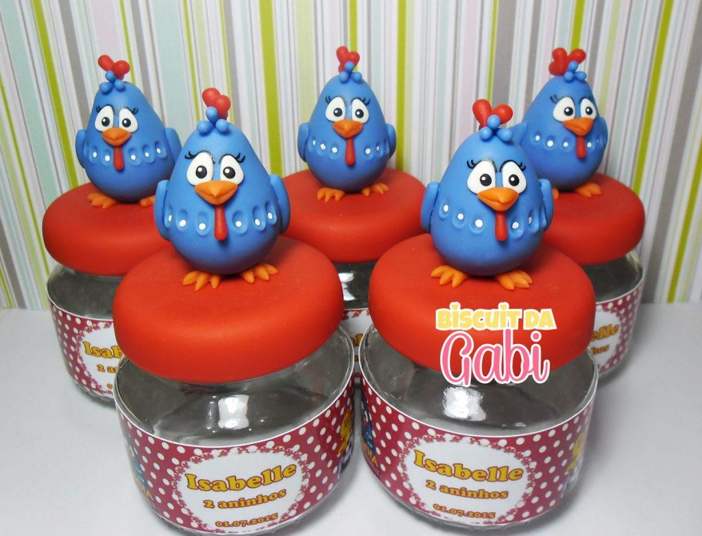 lembrancinha galinha pintadinha biscuit