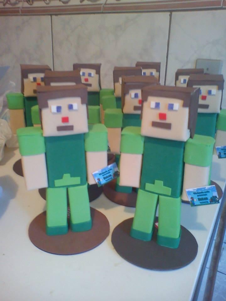 lembrancinha minecraft eva