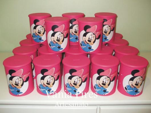 embrancinhas da minnie com lata de leite