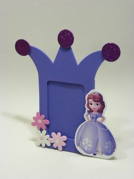 Lembrancinhas da Princesa Sofia em EVA