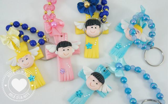 Lembrancinhas de batizado em biscuit