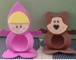 Lembrancinhas Masha e o Urso em EVA