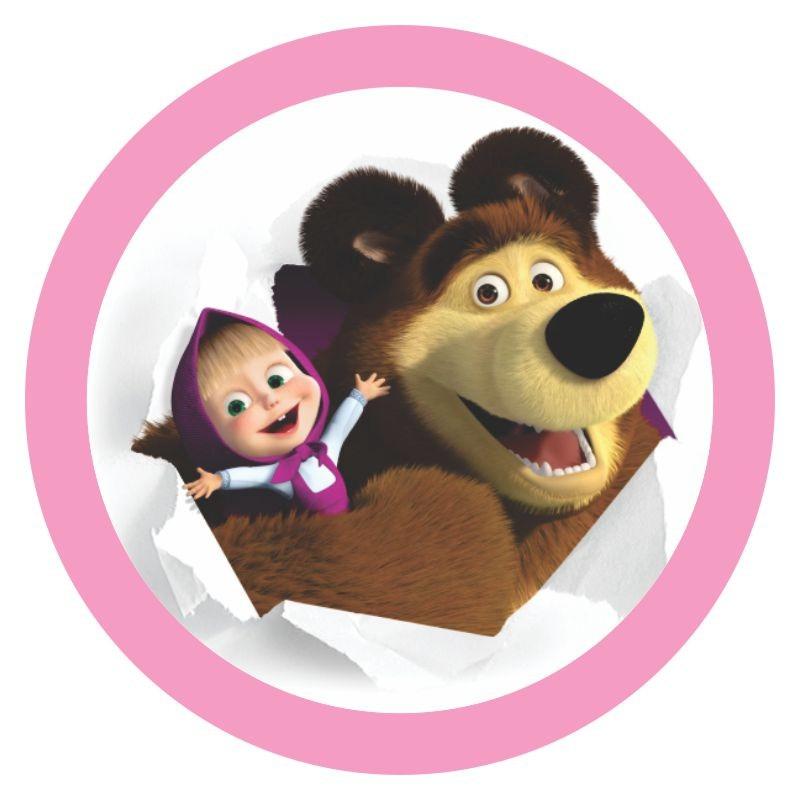 Adesivos lembrancinhas Masha e o Urso