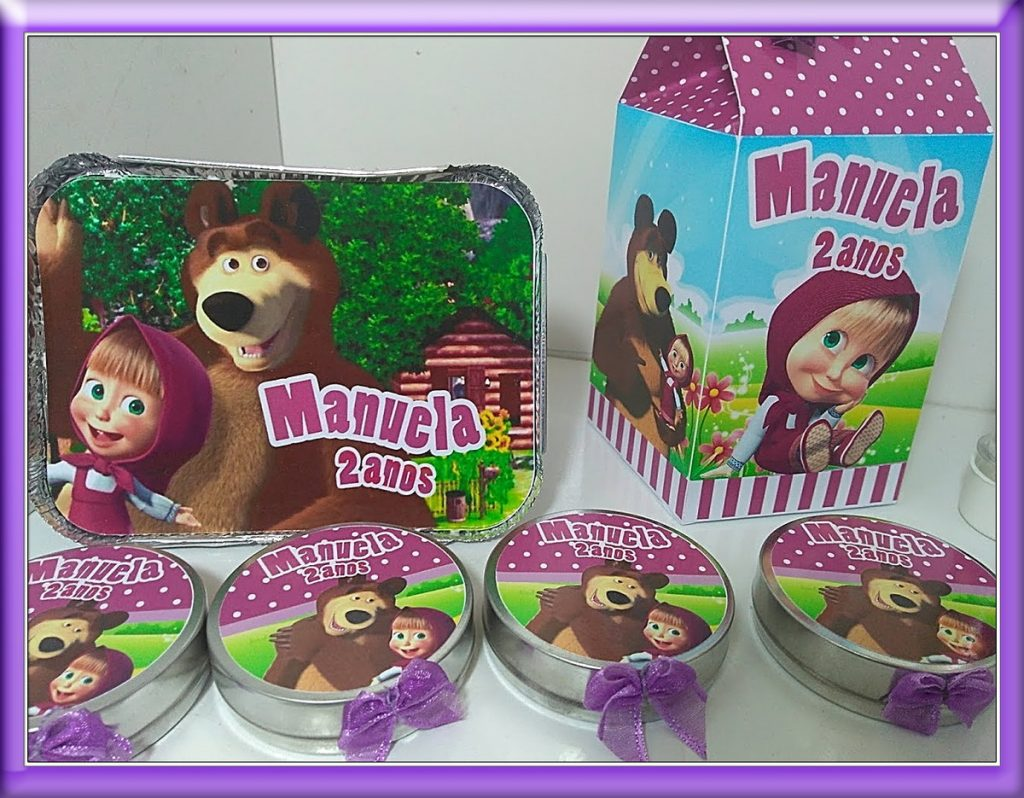 Kit festa infantil Masha e o Urso