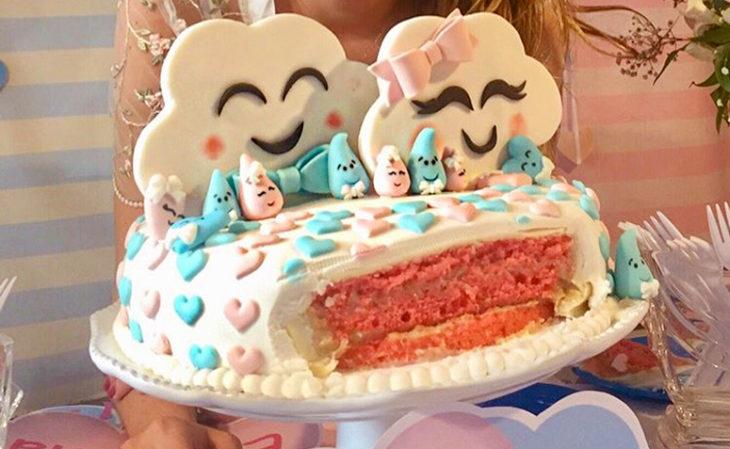 bolo cha revelação nuvem