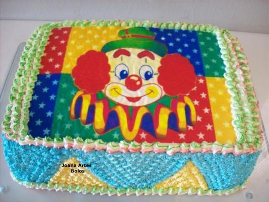 bolo circo papel arroz