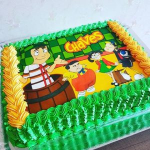 Bolo do chaves chantilly ou glace