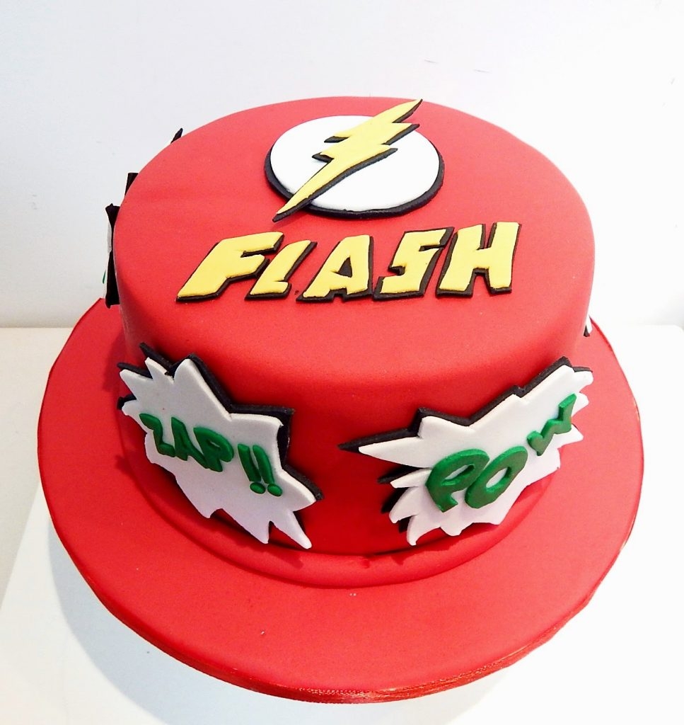 bolo do flash pasta american