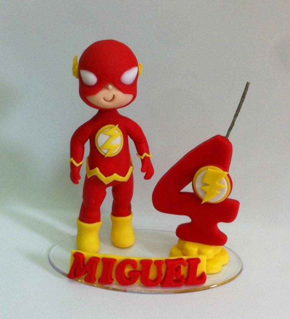 topo de bolo do flash