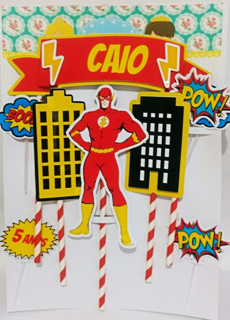 topo de bolo do flash