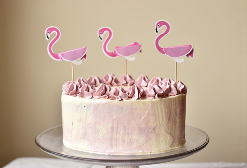 bolo flamingo simples