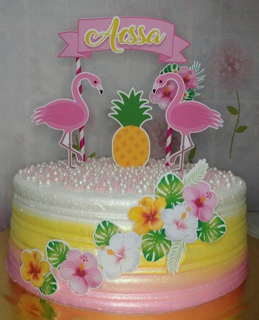 bolo flamingo chantininho