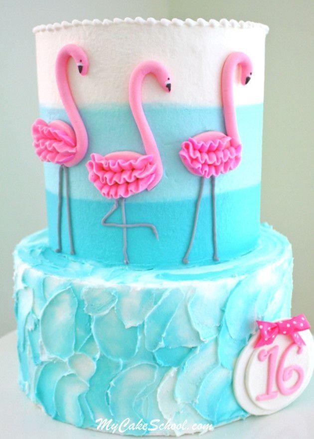 bolo flamingo 2 andares