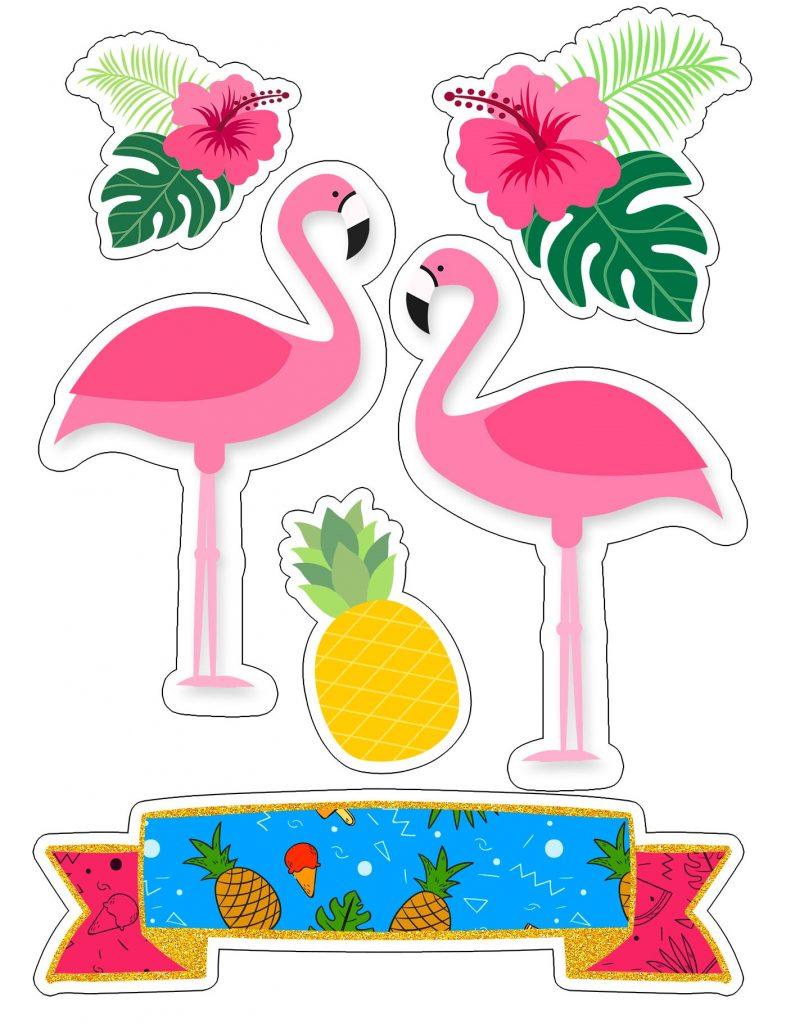 como fazer bolo flamingo