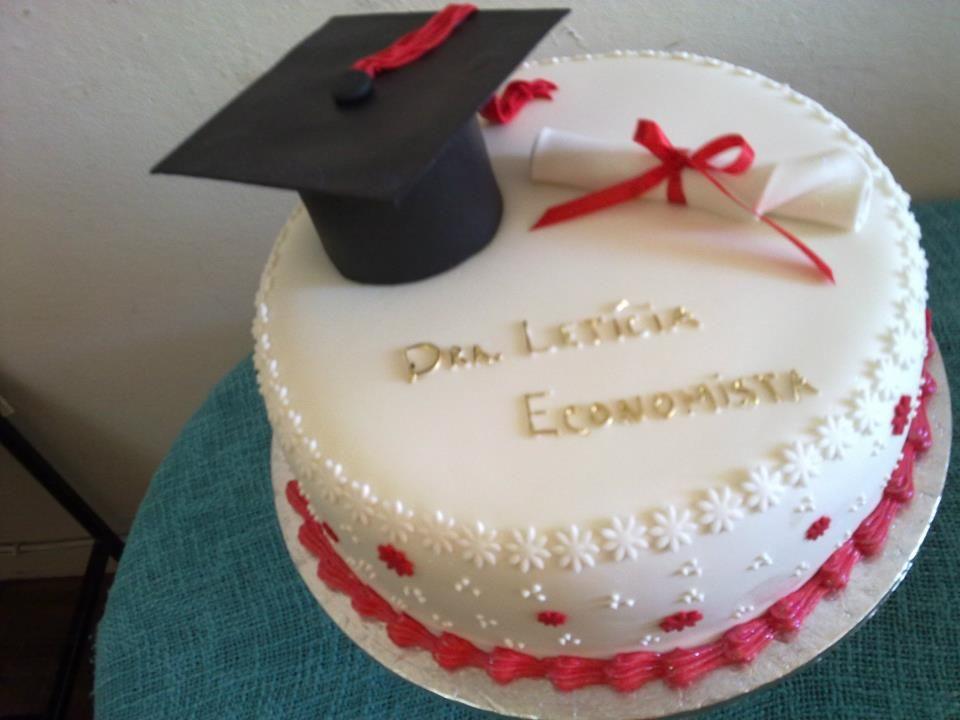 bolo de formatura simples