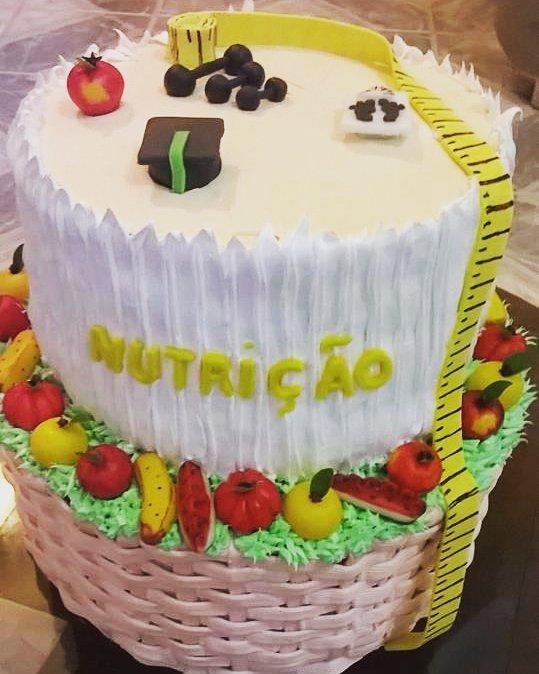 bolo de formatura nutrição