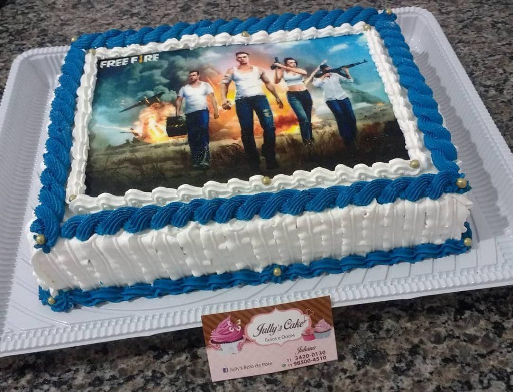 square free fire cake