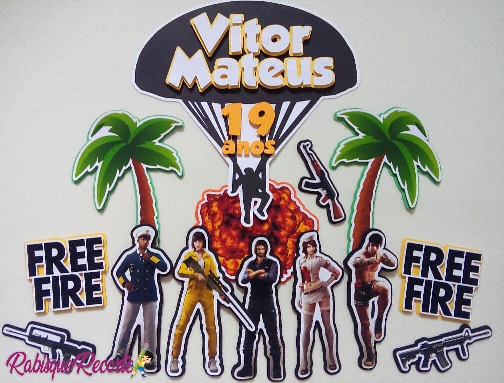 topo de bolo free fire
