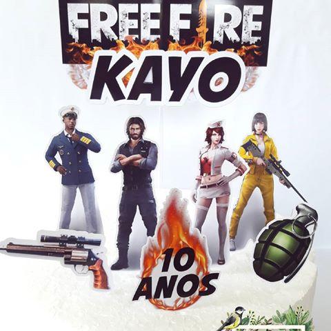 Bolo Free Fire 50 Modelos E Dicas Especiais Baseado No Jogo