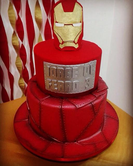 bolo homem de ferro pasta americana