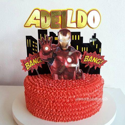 bolo homem de ferro chantininho