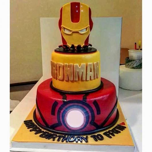 bolo homem de ferro 2 andares