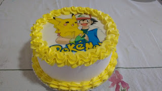 bolo pokemon papel arroz