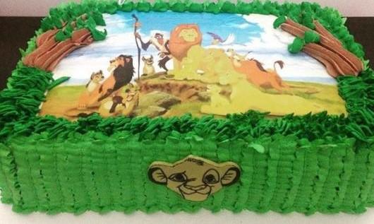 bolo rei leão chantilly