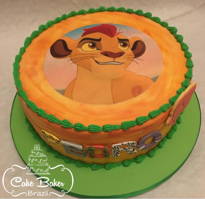 bolo rei leão papel arroz