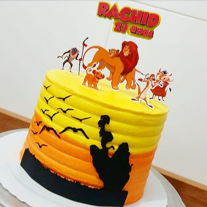 bolo rei leão redondo