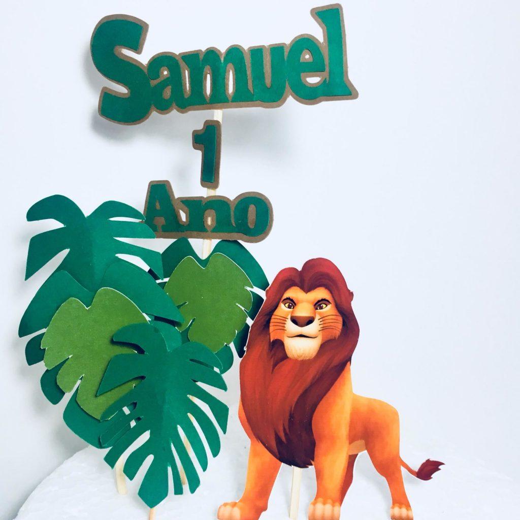 topo de bolo rei leão