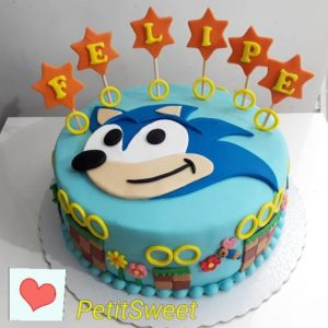 bolo do sonic simples