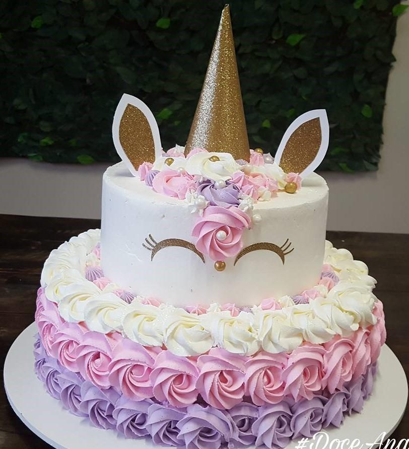 bolo unicornio chantilly simples