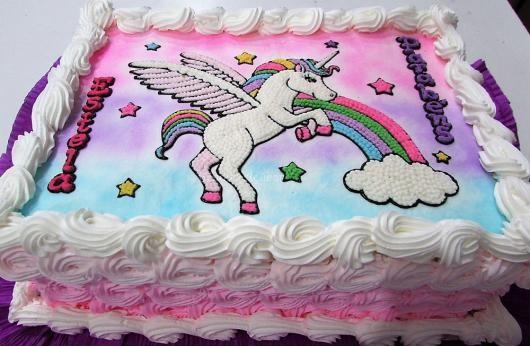 bolo unicornio chantilly papel arroz