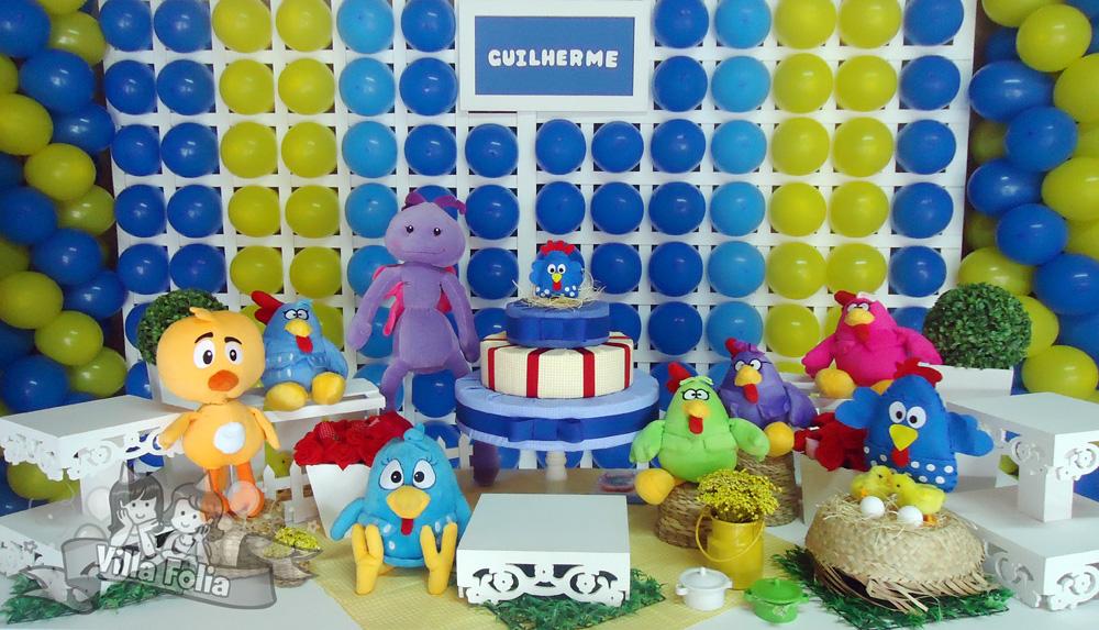 festa da galinha pintadinha para menino