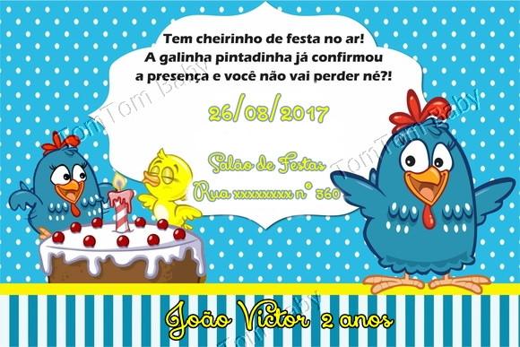 convite festa galinha pintadinha